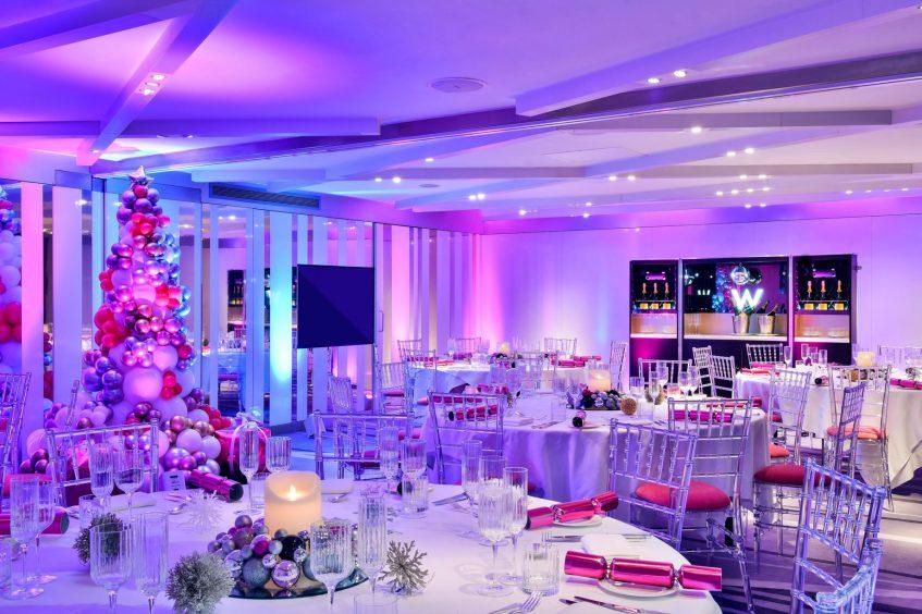 W London Luxury Hotel - London, United Kingdom - Studios Festive Room Setup