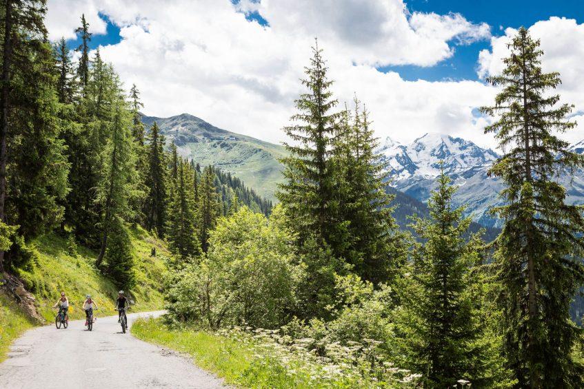 W Verbier Luxury Hotel - Verbier, Switzerland - Biking Forest View
