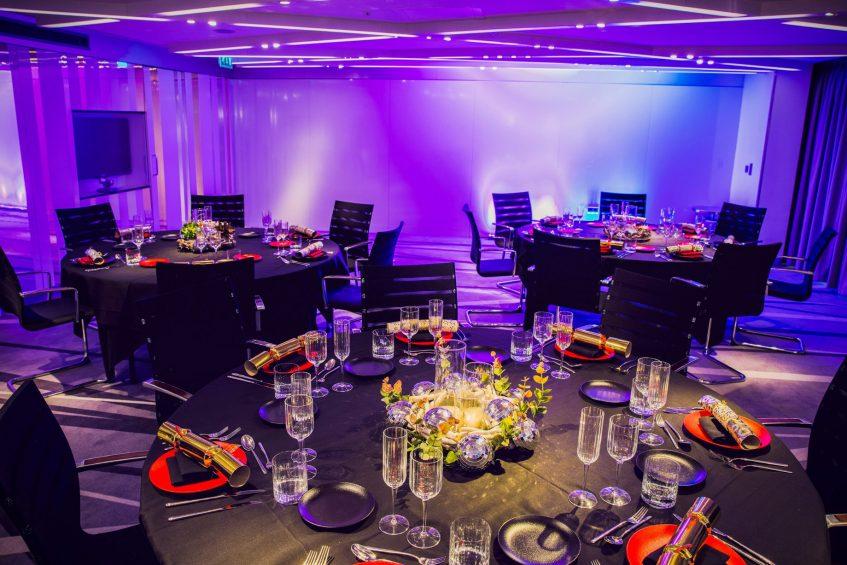 W London Luxury Hotel - London, United Kingdom - Studio Banquet Table Setup