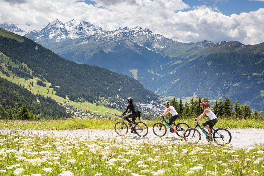 W Verbier Luxury Hotel - Verbier, Switzerland - Biking Mountain View