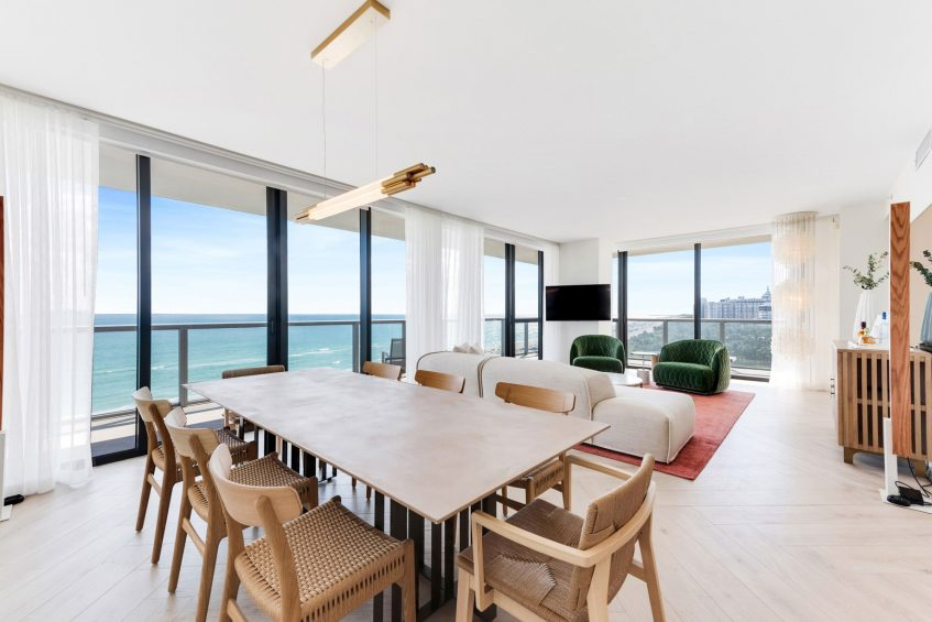 W South Beach Luxury Hotel - Miami Beach, FL, USA - WOW Oceanfront Two Bedroom Suite Dining Area
