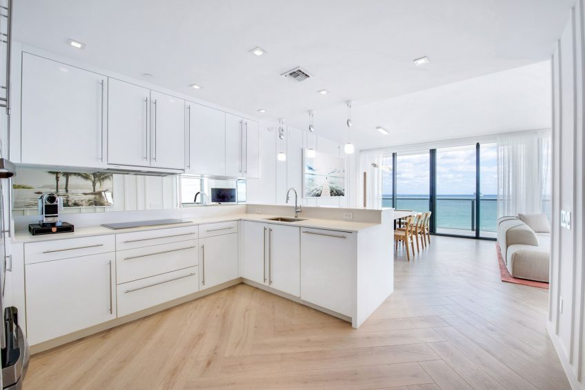 W South Beach Luxury Hotel - Miami Beach, FL, USA - WOW Oceanfront Two Bedroom Suite Kitchen