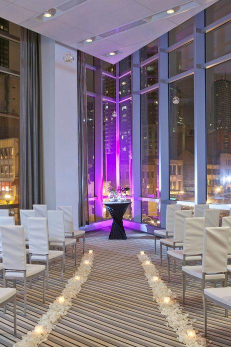 W Boston Luxury Hotel - Boston, MA, USA - Great Room Wedding Ceremony