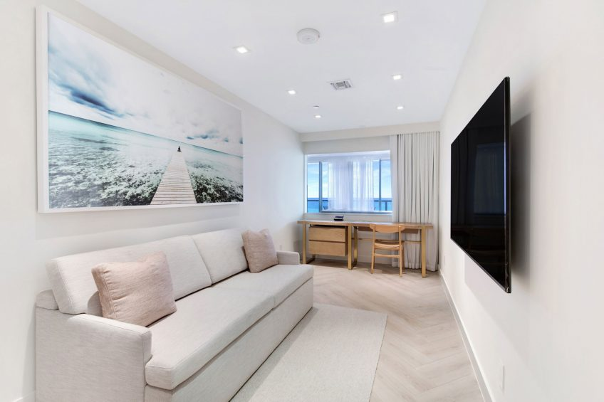 W South Beach Luxury Hotel - Miami Beach, FL, USA - WOW Oceanfront Two Bedroom Suite Lounge