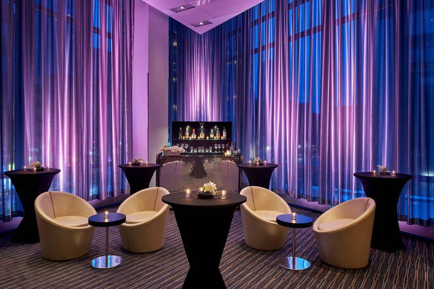 W Boston Luxury Hotel - Boston, MA, USA - Studio 3 Reception Setup