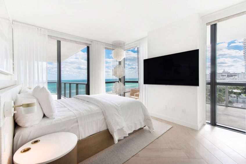 W South Beach Luxury Hotel - Miami Beach, FL, USA - WOW Oceanfront Two Bedroom Suite View