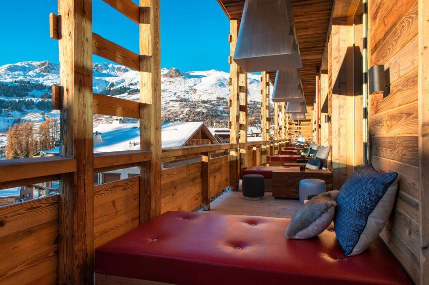 W Verbier Luxury Hotel - Verbier, Switzerland - Living Room Terrace