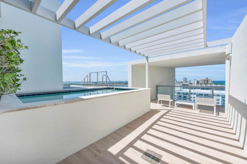 W South Beach Luxury Hotel - Miami Beach, FL, USA - Ocean View Penthouse Suite Rooftop Terrace
