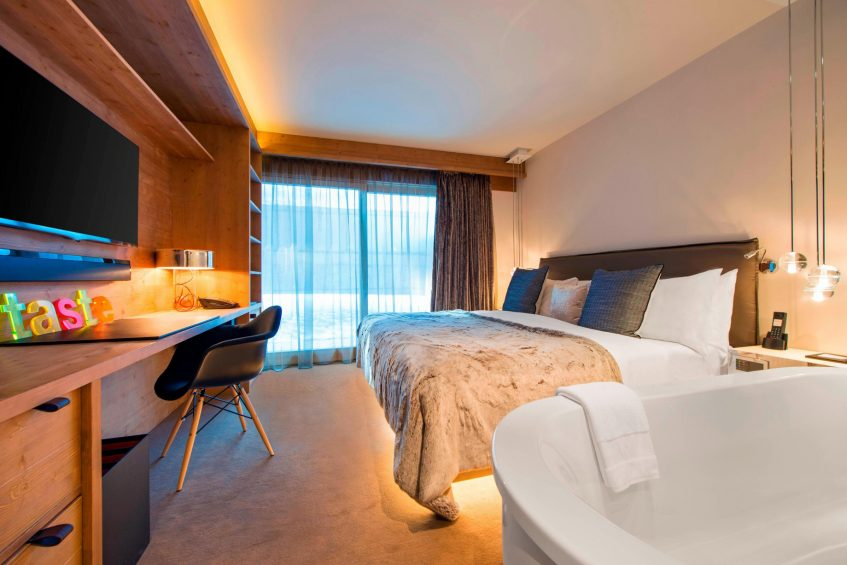 W Verbier Luxury Hotel - Verbier, Switzerland - Residence Bedroom Layout