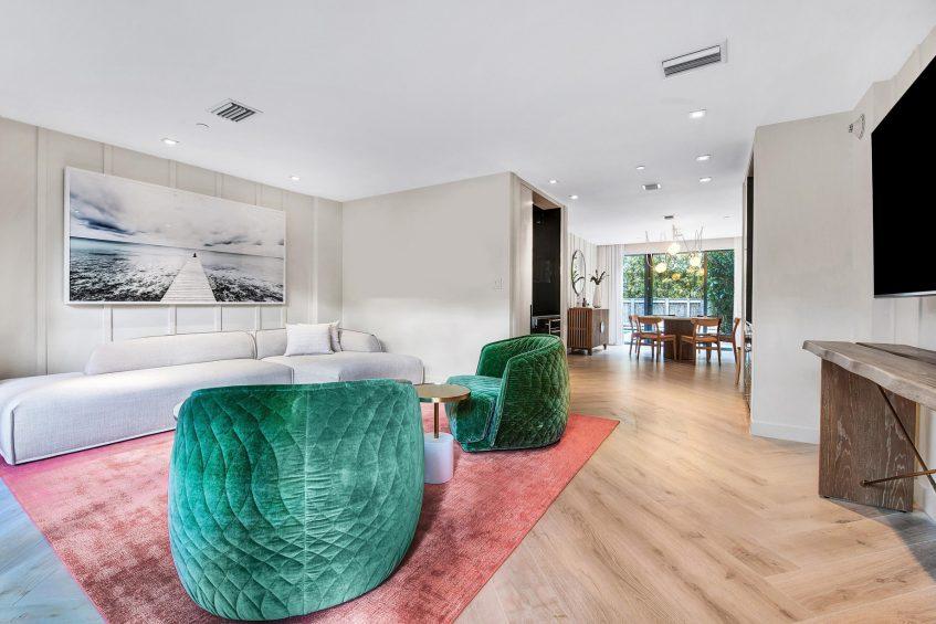W South Beach Luxury Hotel - Miami Beach, FL, USA - Poolside Bungalow 2 Bedroom Suite Interior Design