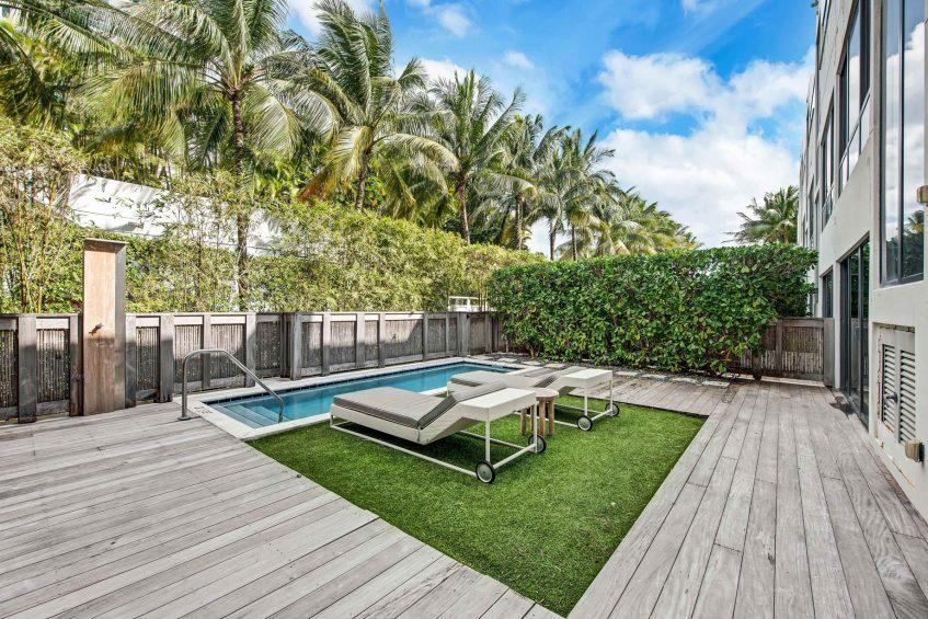 W South Beach Luxury Hotel - Miami Beach, FL, USA - Poolside Bungalow 2 Bedroom Suite Deck