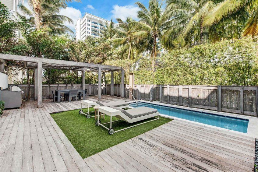 W South Beach Luxury Hotel - Miami Beach, FL, USA - Poolside Bungalow 2 Bedroom Suite Pool