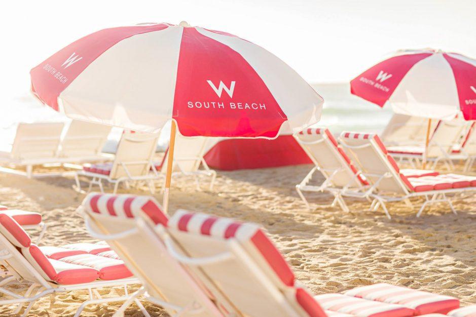 W South Beach Luxury Hotel - Miami Beach, FL, USA - W South Beach SAND Umbrellas Detail