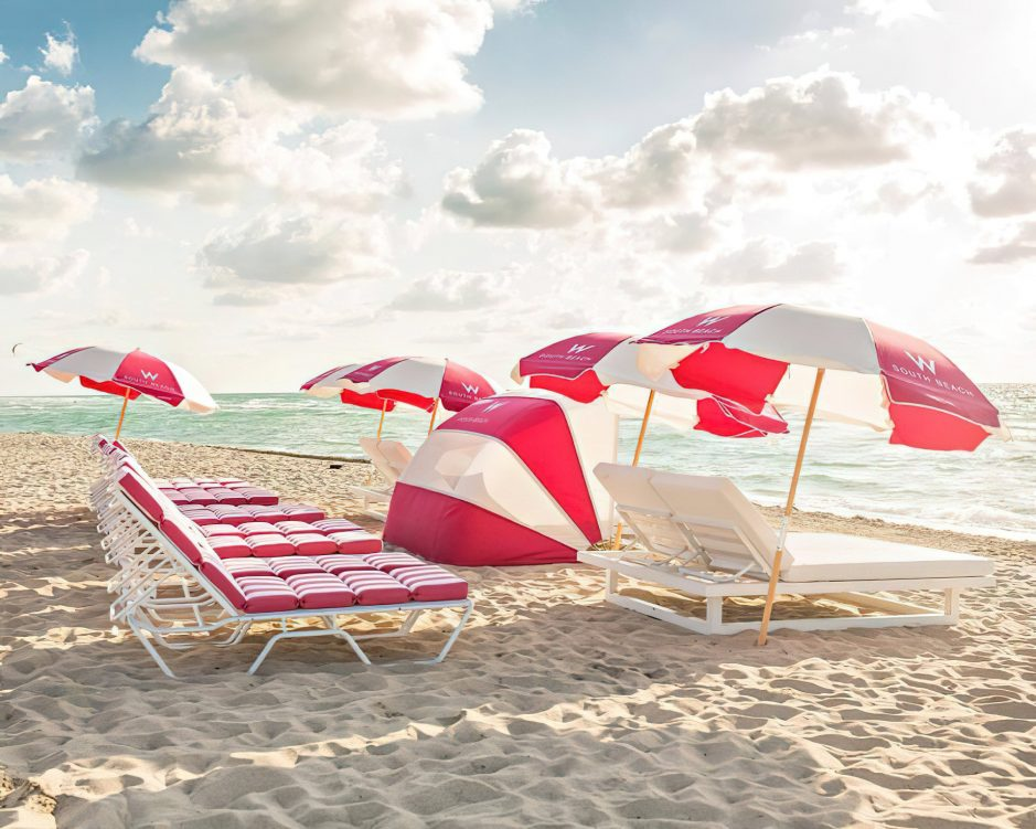 W South Beach Luxury Hotel - Miami Beach, FL, USA - SAND Beachfront Chairs