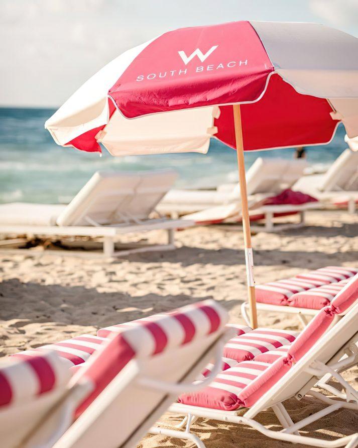 W South Beach Luxury Hotel - Miami Beach, FL, USA - W South Beach Umbrellas