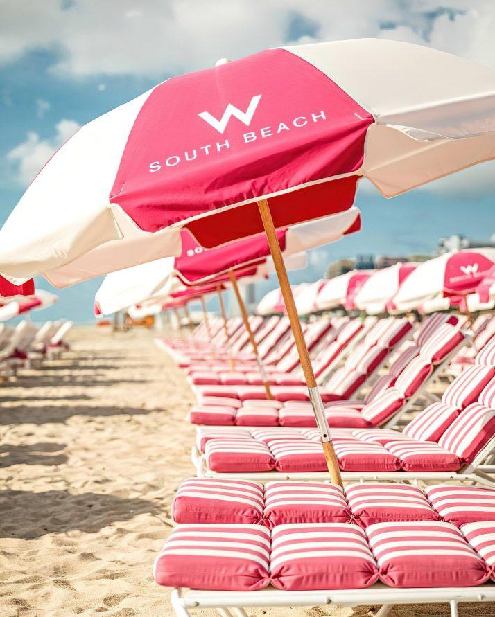 W South Beach Luxury Hotel - Miami Beach, FL, USA - W South Beach Chairs and Umbrellas