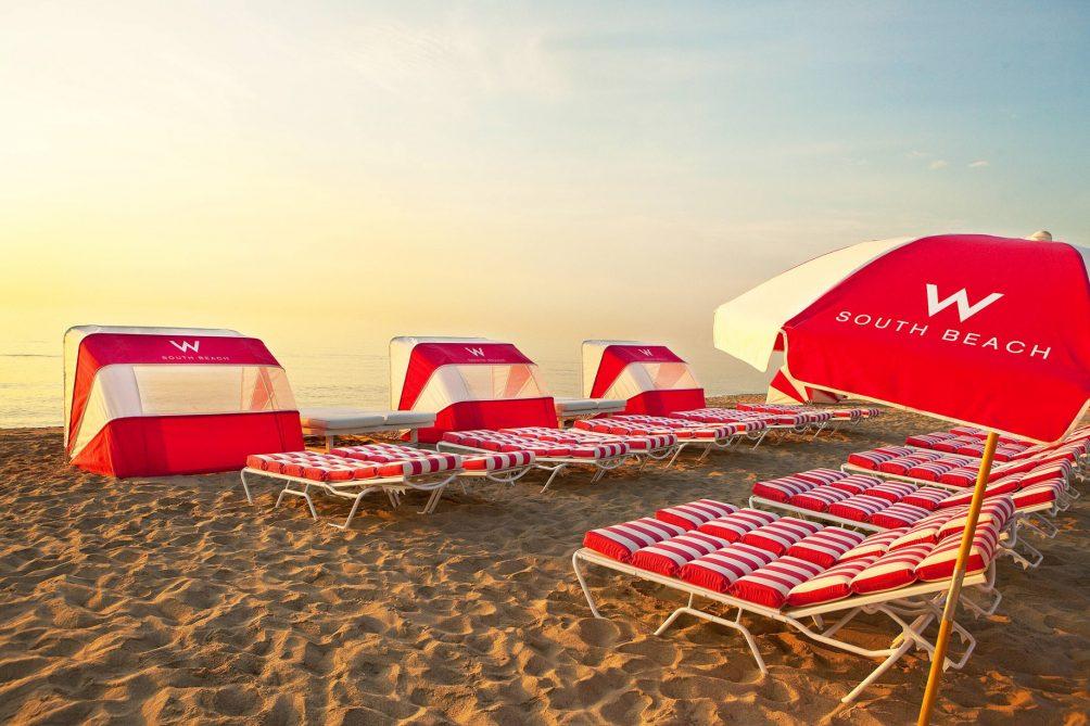 W South Beach Luxury Hotel - Miami Beach, FL, USA - SAND Beach Chairs