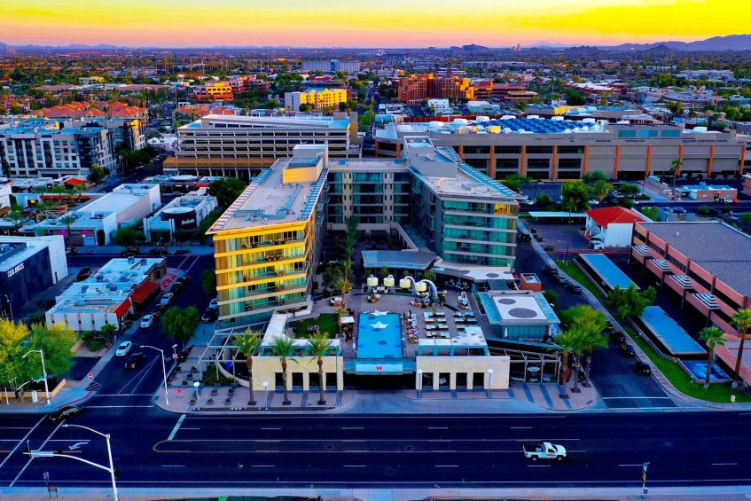 W Scottsdale Luxury Hotel - Scottsdale, AZ, USA - Hotel Exterior Sunset