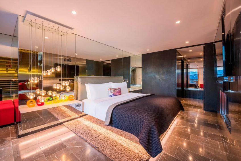 W Verbier Luxury Hotel - Verbier, Switzerland - WOW Suite Bedroom Style