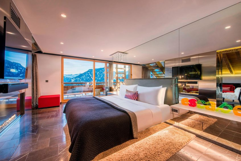 W Verbier Luxury Hotel - Verbier, Switzerland - WOW Suite Bedroom