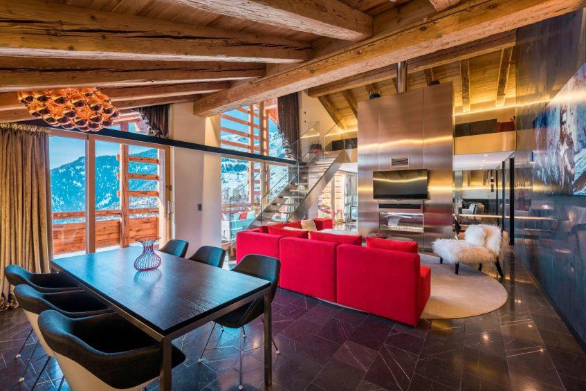 W Verbier Luxury Hotel - Verbier, Switzerland - WOW Suite Lounge Area
