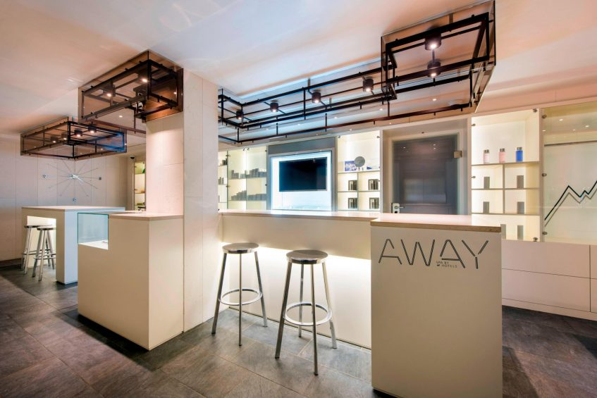 W Verbier Luxury Hotel - Verbier, Switzerland - AWAY Spa Welcome Desk