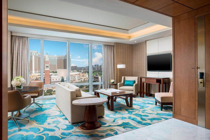 The St. Regis Macao Luxury Hotel - Cotai, Macau SAR, China - Metropolitan Suite Living Area View