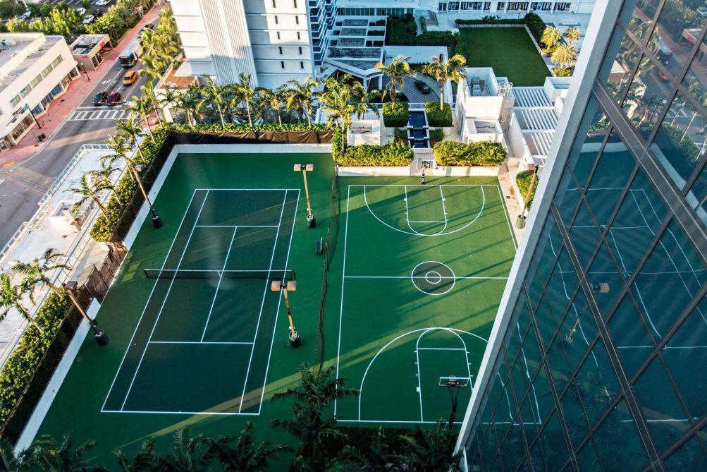 W South Beach Luxury Hotel - Miami Beach, FL, USA - SWING Rooftop Tennis Court