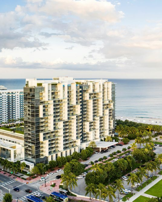W South Beach Luxury Hotel - Miami Beach, FL, USA - W South Beach Aerial View
