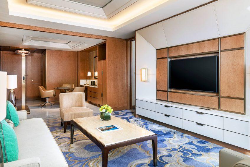 The St. Regis Macao Luxury Hotel - Cotai, Macau SAR, China - St. Regis Suite Living Area Decor