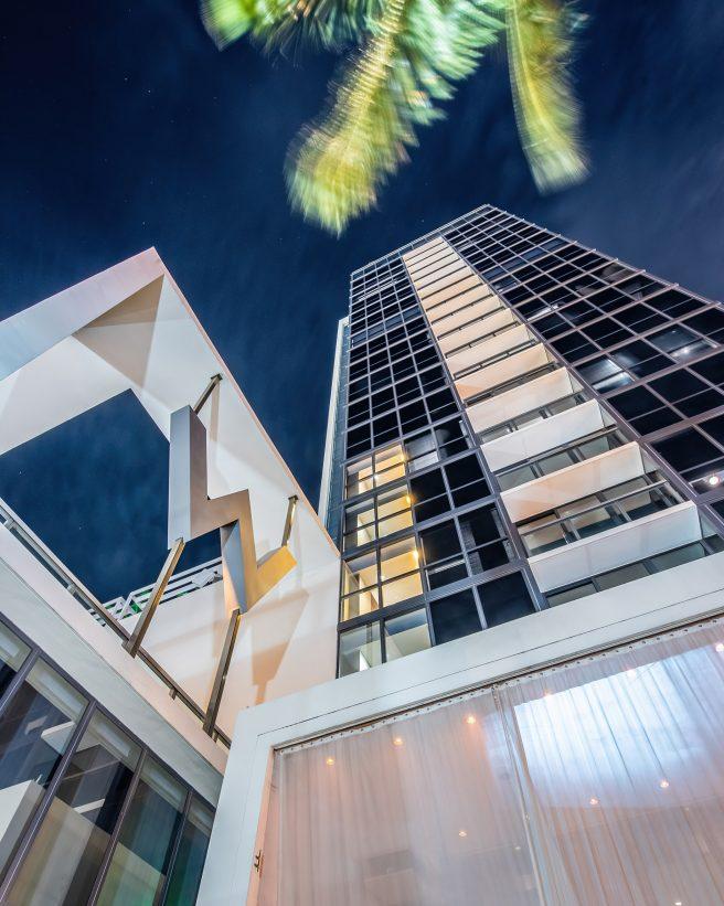 W South Beach Luxury Hotel - Miami Beach, FL, USA - W Night View