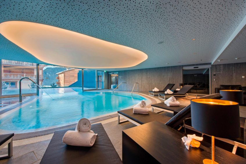 W Verbier Luxury Hotel - Verbier, Switzerland - AWAY SPA WET Pool Deck