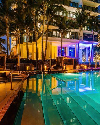 W South Beach Luxury Hotel - Miami Beach, FL, USA - Pook Night