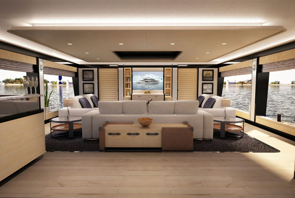 Discover Six of the Best Luxury Yachts for Sale - New Build - REALE MY PACIFICO 35 - Salon