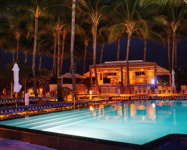 W South Beach Luxury Hotel - Miami Beach, FL, USA - Pool Night View