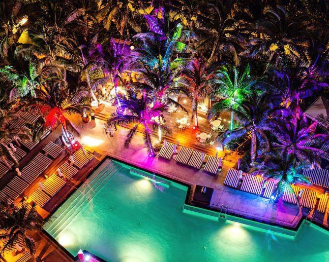 W South Beach Luxury Hotel - Miami Beach, FL, USA - Pool Night Vibe