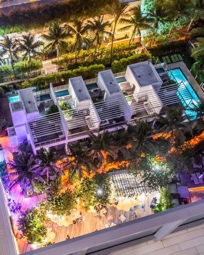 W South Beach Luxury Hotel - Miami Beach, FL, USA - The Grove Night Lights