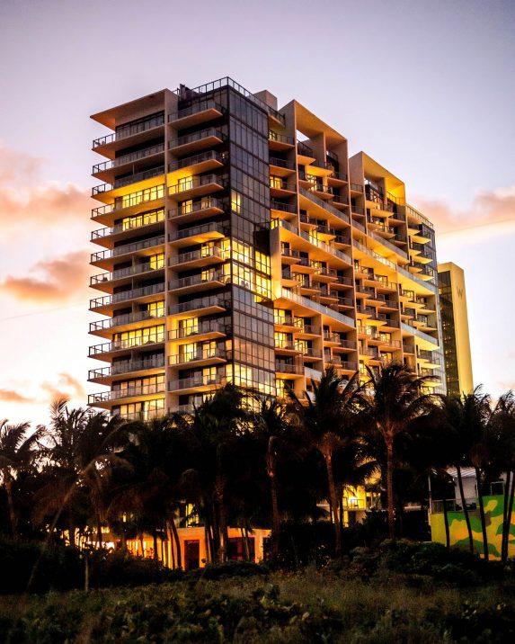 W South Beach Luxury Hotel - Miami Beach, FL, USA - W South Beach Hotel Night
