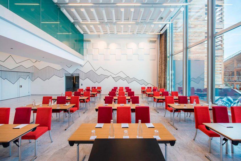 W Verbier Luxury Hotel - Verbier, Switzerland - Studio Classroom Meeting Room