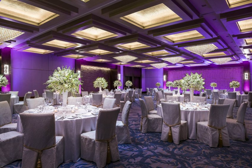 The St. Regis Macao Luxury Hotel - Cotai, Macau SAR, China - Astor Ballroom Gala Dinner Tables