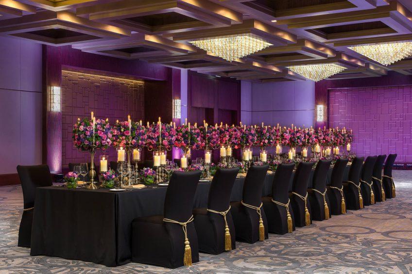 The St. Regis Macao Luxury Hotel - Cotai, Macau SAR, China - Astor Ballroom Long Table