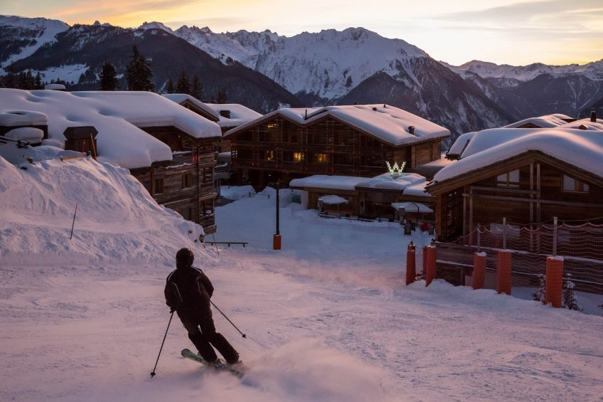 W Verbier Luxury Hotel - Verbier, Switzerland - Skiing Dusk