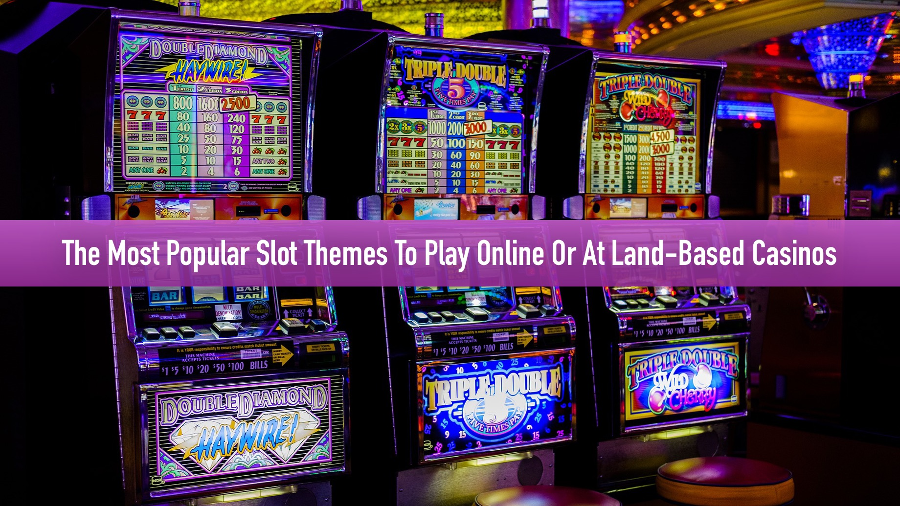 The Most Popular Slot Themes To Play Online Or At Land-Based Casinos