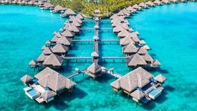 The St. Regis Bora Bora Resort - Bora Bora, French Polynesia - Resort Aerial View