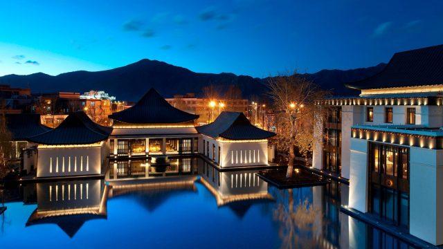 The St. Regis Lhasa Luxury Resort - Lhasa, Xizang, China - Resort Lake View Night