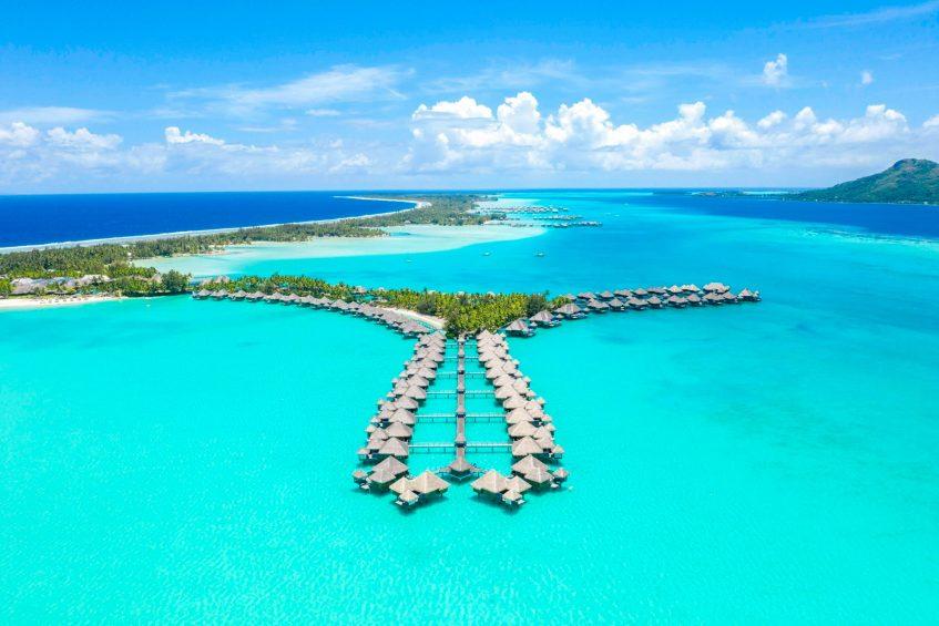 The St. Regis Bora Bora Resort - Bora Bora, French Polynesia - Aerial Resort Villas
