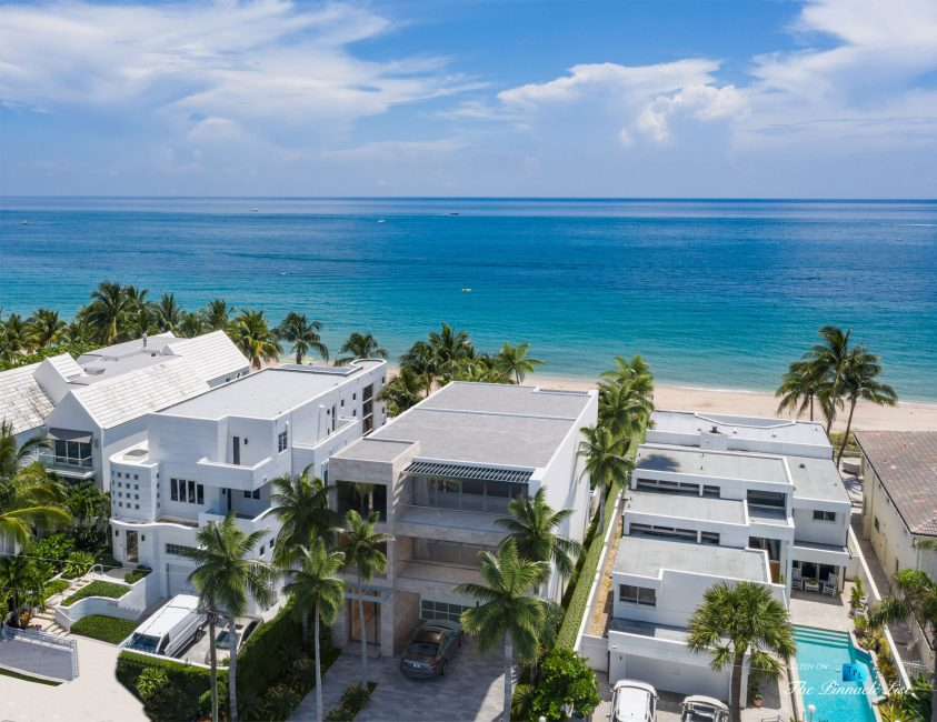 2920 N Atlantic Blvd, Fort Lauderdale, FL, USA - Oceanfront Lot - Luxury Home Artist Architectural Render
