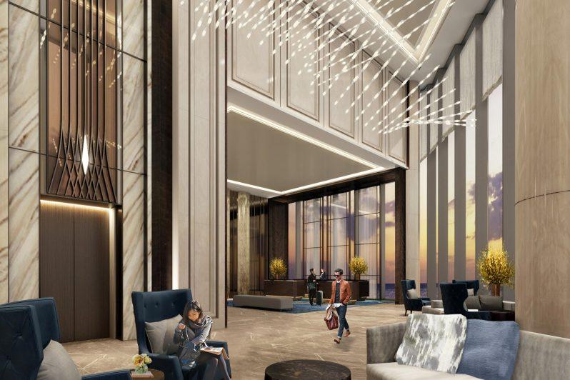 The St. Regis Qingdao Luxury Hotel - Qingdao, Shandong, China - Sky Lobby