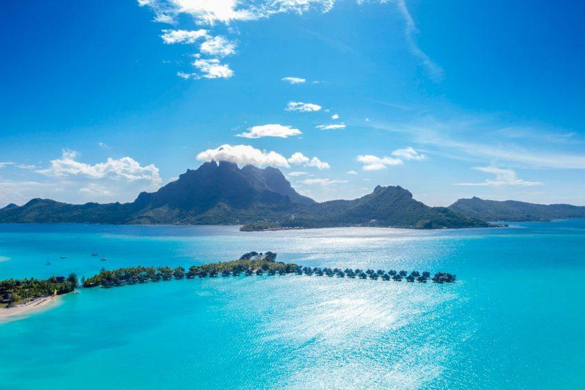 The St. Regis Bora Bora Resort - Bora Bora, French Polynesia - Aerial Resort Mountain View