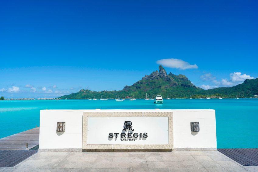 The St. Regis Bora Bora Resort - Bora Bora, French Polynesia - Main Dock Arrival